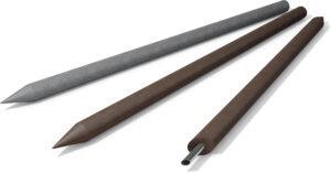 Ronde palen (met punt, staalversterkt)