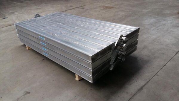 Aluminium stempelschotten - standaard uitvoering