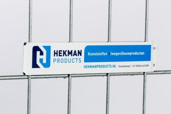HP aluminium bouwhekbord 48 mm bedrukt in 1 kleur