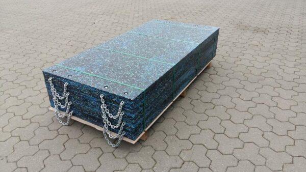 HeProLen XL kunststof stempelplaten 4 touwgrepen